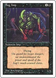 Magic the Gathering Fourth Edition Single Card Common Bog Imp
