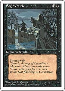 Magic the Gathering Fourth Edition Single Card Uncommon Bog Wraith