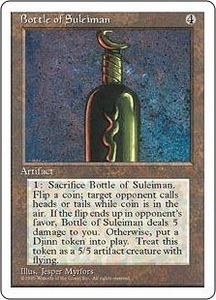 Magic the Gathering Fourth Edition Single Card Rare Bottle of Suleiman