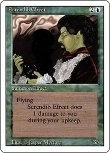 Magic the Gathering Revised Edition Single Card Rare Serendib Efreet