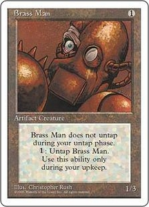 Magic the Gathering Fourth Edition Single Card Uncommon Brass Man