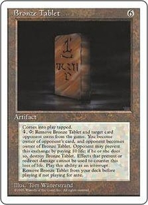 Magic the Gathering Fourth Edition Single Card Rare Bronze Tablet