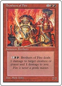 Magic the Gathering Fourth Edition Single Card Common Brothers of Fire