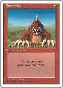 Magic the Gathering Fourth Edition Single Card Uncommon Burrowing