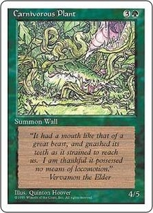 Magic the Gathering Fourth Edition Single Card Common Carnivorous Plant