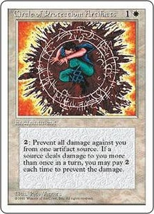 Magic the Gathering Fourth Edition Single Card Uncommon Circle of Protection: Artifacts
