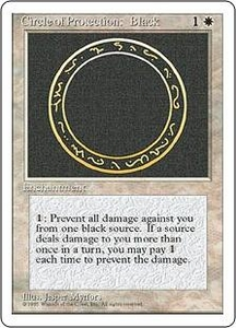 Magic the Gathering Fourth Edition Single Card Common Circle of Protection: Black