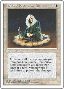 Magic the Gathering Fourth Edition Single Card Common Circle of Protection: Blue