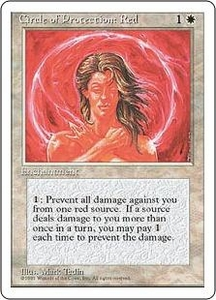 Magic the Gathering Fourth Edition Single Card Common Circle of Protection: Red