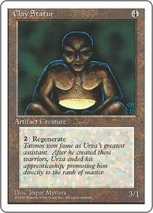 Magic the Gathering Fourth Edition Single Card Common Clay Statue