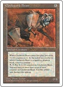 Magic the Gathering Fourth Edition Single Card Rare Clockwork Beast