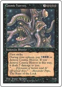 Magic the Gathering Fourth Edition Single Card Rare Cosmic Horror