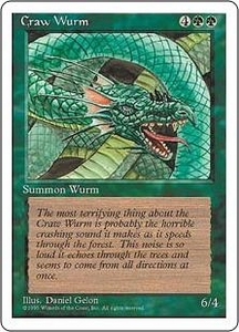 Magic the Gathering Fourth Edition Single Card Common Craw Wurm