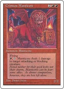 Magic the Gathering Fourth Edition Single Card Rare Crimson Manticore