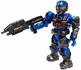 Halo Wars Mega Bloks LOOSE Mini Figure Blue UNSC Marine with Assault Rifle