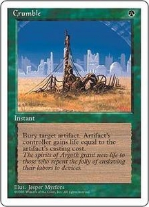 Magic the Gathering Fourth Edition Single Card Uncommon Crumble