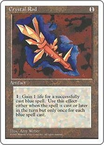 Magic the Gathering Fourth Edition Single Card Uncommon Crystal Rod