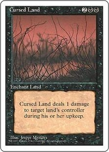 Magic the Gathering Fourth Edition Single Card Uncommon Cursed Land