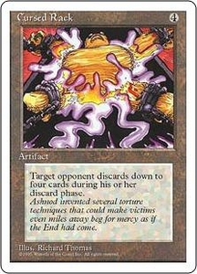 Magic the Gathering Fourth Edition Single Card Uncommon Cursed Rack