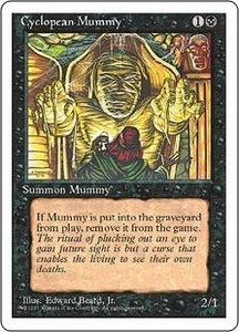Magic the Gathering Fourth Edition Single Card Common Cyclopean Mummy