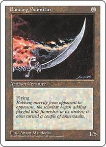 Magic the Gathering Fourth Edition Single Card Rare Dancing Scimitar