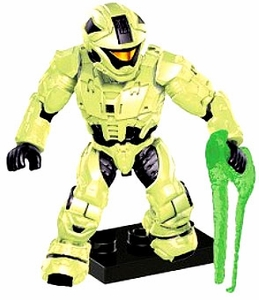Halo Mega Bloks LOOSE Mini Figure Infected UNSC Spartan Zombie Recon with Energy Sword