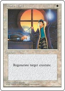 Magic the Gathering Fourth Edition Single Card Common Death Ward