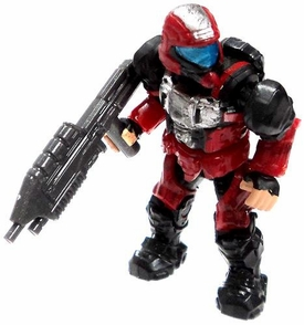 Halo Wars Mega Bloks LOOSE Mini Figure Red UNSC ODST with Assault Rifle