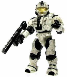 Halo Wars Mega Bloks LOOSE Mini Figure UNSC Artic CQB Spartan with Silenced SMG