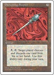 Magic the Gathering Fourth Edition Single Card Rare Disrupting Scepter