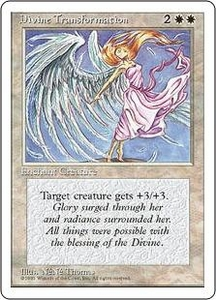 Magic the Gathering Fourth Edition Single Card Uncommon Divine Transformation