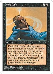 Magic the Gathering Fourth Edition Single Card Common Drain Life