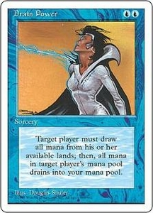 Magic the Gathering Fourth Edition Single Card Rare Drain Power
