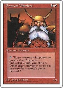Magic the Gathering Fourth Edition Single Card Common Dwarven Warriors