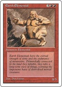 Magic the Gathering Fourth Edition Single Card Uncommon Earth Elemental
