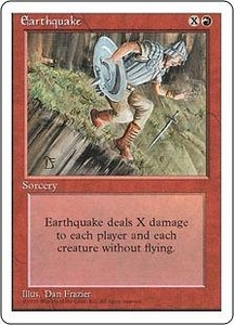 Magic the Gathering Fourth Edition Single Card Rare Earthquake