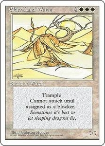 Magic the Gathering Fourth Edition Single Card Rare Elder Land Wurm