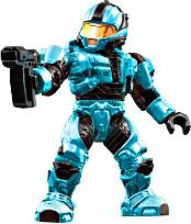 Halo Wars Mega Bloks LOOSE Mini Figure UNSC Cyan CQB Spartanwith Pistol