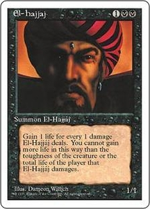 Magic the Gathering Fourth Edition Single Card Rare El-Hajjaj