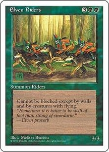 Magic the Gathering Fourth Edition Single Card Uncommon Elven Riders