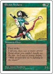 Magic the Gathering Fourth Edition Single Card Rare Elvish Archers
