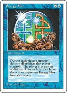 Magic the Gathering Fourth Edition Single Card Uncommon Energy Flux