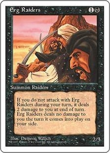 Magic the Gathering Fourth Edition Single Card Common Erg Raiders
