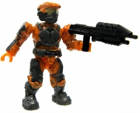Halo Wars Mega Bloks LOOSE Mini Figure UNSC Orange Marine with Assault Rifle