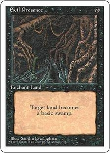 Magic the Gathering Fourth Edition Single Card Uncommon Evil Presence