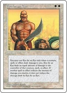 Magic the Gathering Fourth Edition Single Card Rare Eye for an Eye