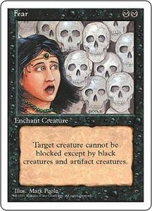 Magic the Gathering Fourth Edition Single Card Common Fear