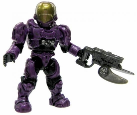 Halo Wars Mega Bloks LOOSE Mini Figure UNSC Purple EVA Spartan with Spiker