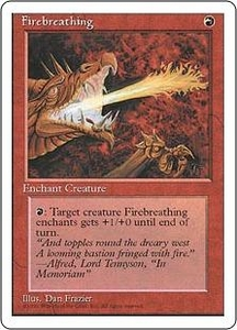 Magic the Gathering Fourth Edition Single Card Common Firebreathing