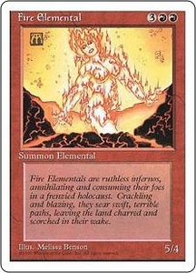 Magic the Gathering Fourth Edition Single Card Uncommon Fire Elemental